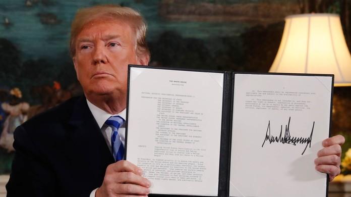 Resultado de imagem para Após Trump anunciar saída de acordo com Irã, petróleo fecha em queda