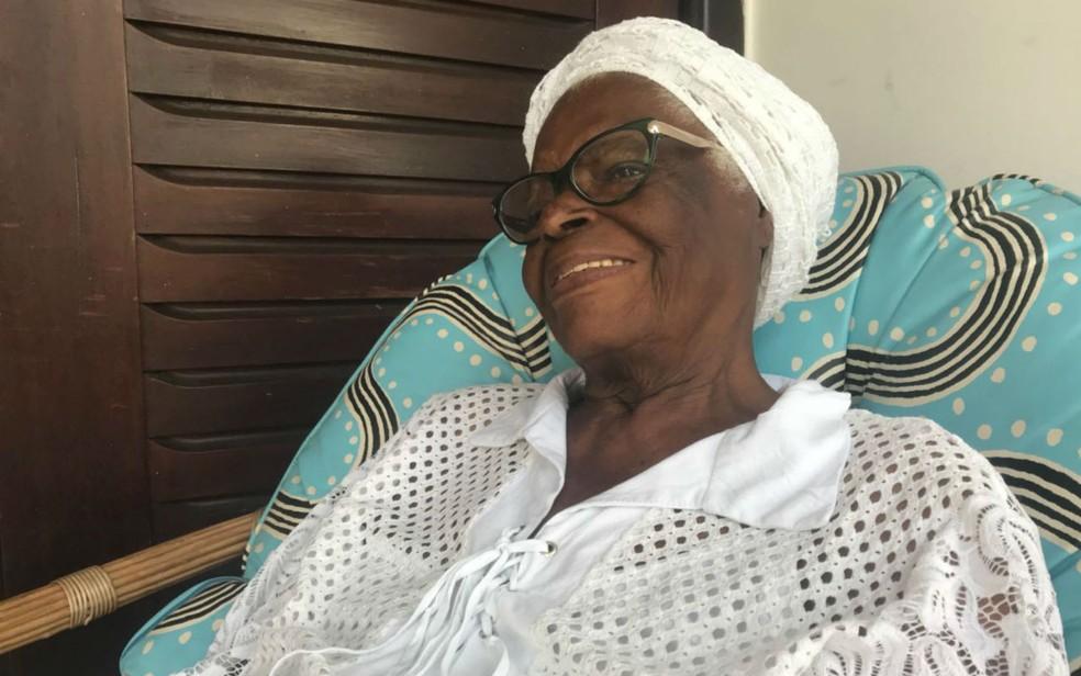 Mãe Stella tem 92 anos de idade — Foto: Alan Tiago Alves/G1