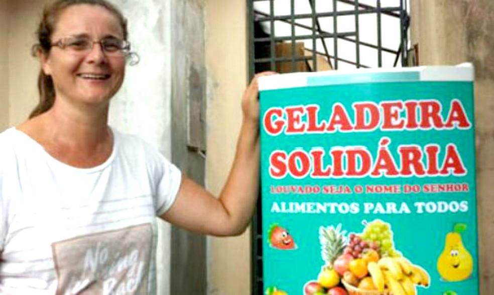 Lucineia Furlan, que mantém o projeto na cidade, acredita que novos pontos poderiam surgir para atender mais pessoas (Foto: Arquivo Pessoal)