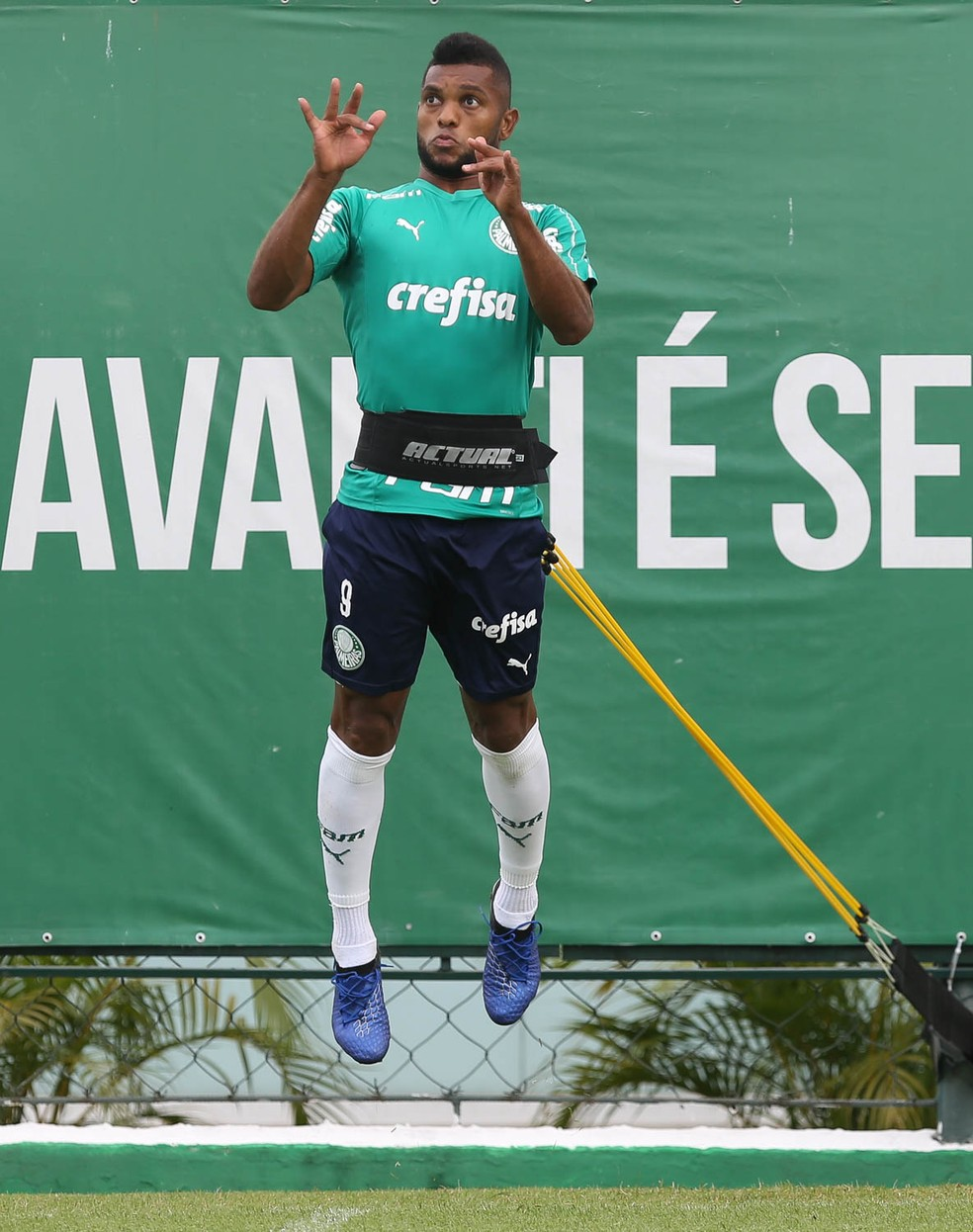 Borja em treino do Palmeiras — Foto: Cesar Greco/Ag. Palmeiras