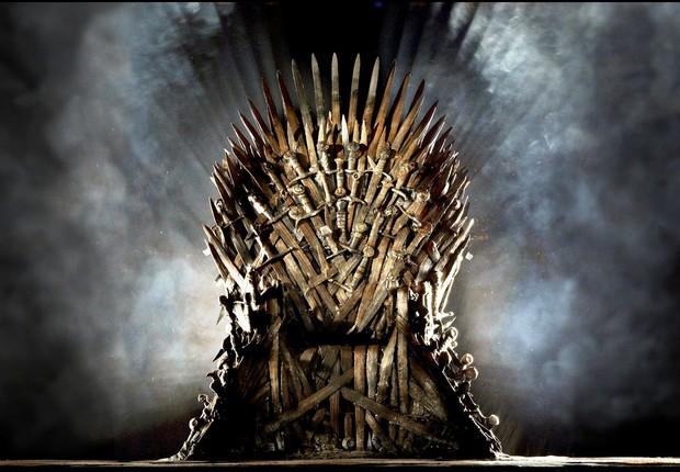 O trono de ferro da série de TV Game of Thrones: disputa para ver quem vai comandar os sete reinos (Foto: HBO)