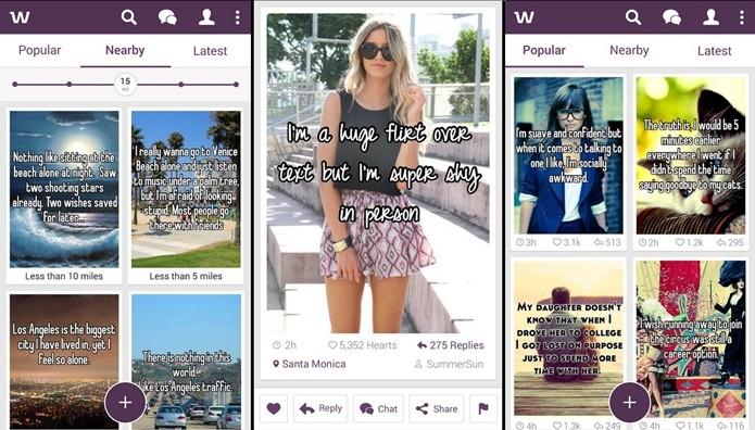 Whisper permite enviar mensagens privadas anonimamente (Foto: Divulgação/Whisper)