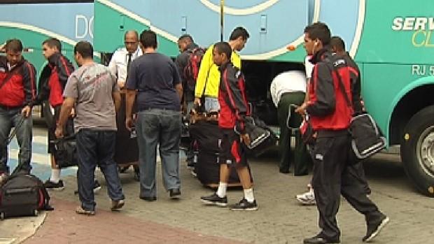 Após 13 horas de viagem, Flamengo chega a Rio Preto para a Copa SP