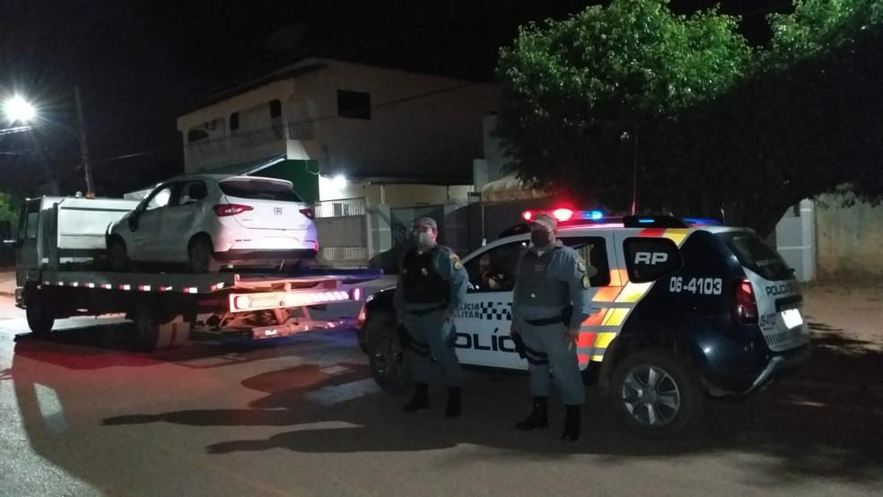 Carra foi recuperado pela polícia — Foto: Polícia Militar/Divulgação