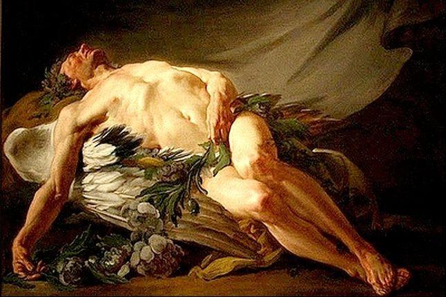 Morfeu, deus grego dos sonhos, na visão de Jean-Bernard Restout (1732/1797) (Foto: Arquivo Google)