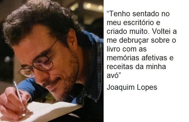 Joaquim Lopes tem apostado na escrita  (Foto: Reprodução)
