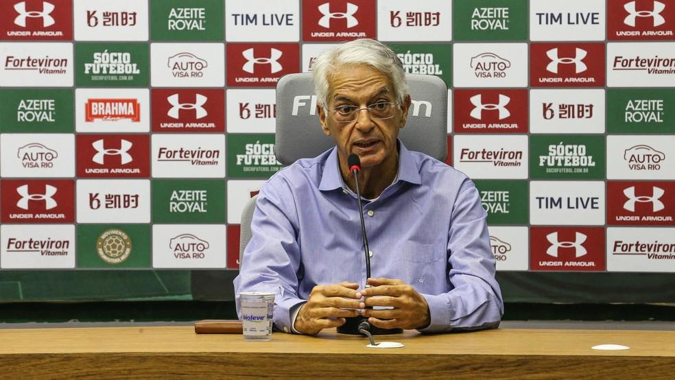 Celso Barros está afastado das funções no clube desde o fim de 2019 — Foto: Lucas Merçon / Fluminense