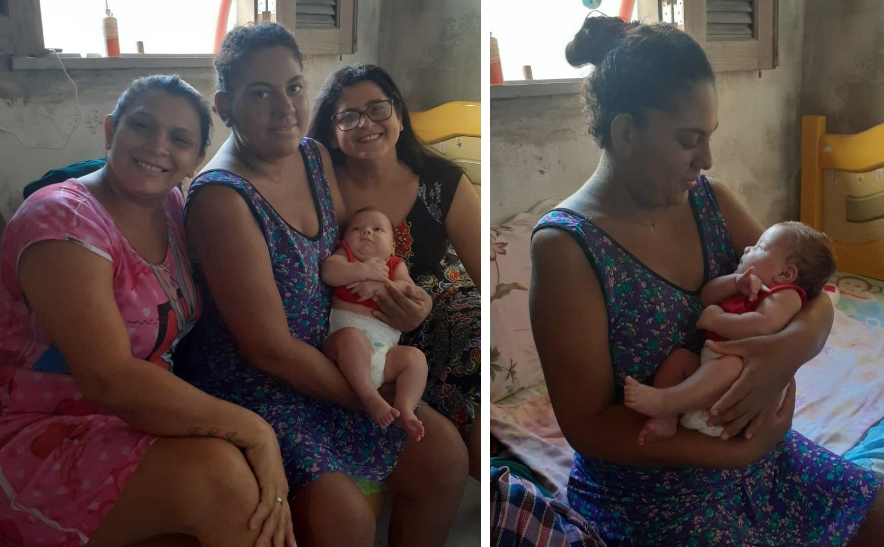 Patricia está na casa de parentes, recebendo ajuda para se recuperar e cuidar do filho (Foto: Arquivo pessoal)