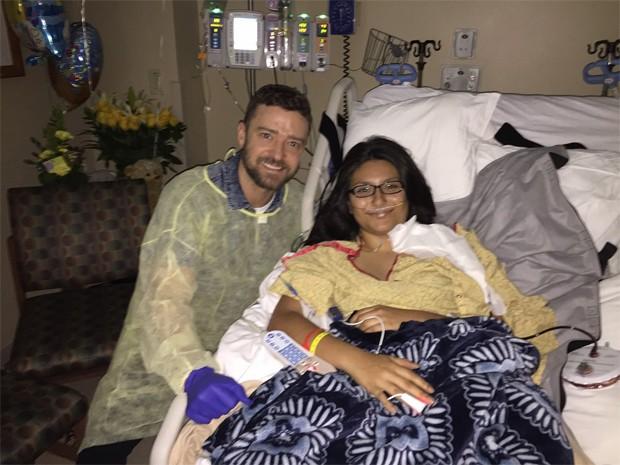 Justin Timberlake e Sarah Salazar (Foto: Reprodução / Facebook)