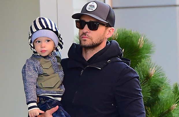 Justin Timberlake e Silas (Foto: Grosby Group)