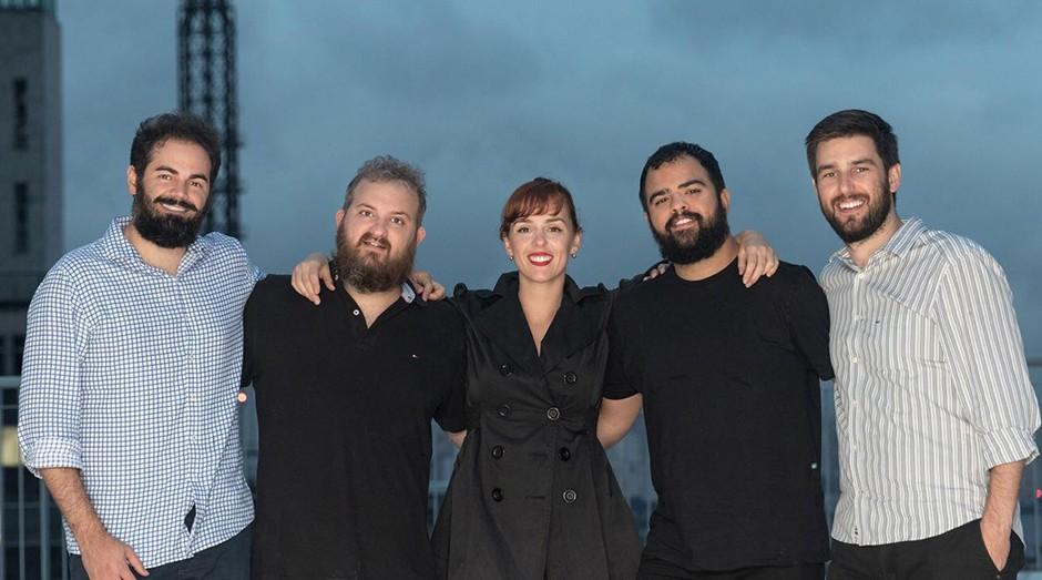 Diogo Tolezano, Pedro Godoy, Mariana Marcílio, Hugo Santo e Murilo Souza (Foto: Divulgação/Alexandre Disaró)
