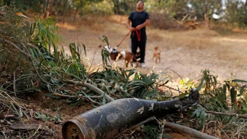 Nos últimos anos, o poderosa Domo de Ferro protegeu os centros urbanos israelenses de mísseis lançados pelo Hamas — Foto: Getty Images/BBC