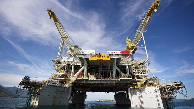 Plataforma de exploração do pré-sal ; petróleo ;  (Foto: Pércio Campos/Agência Petrobras)