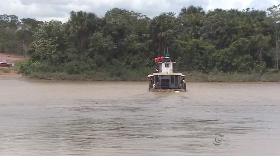 -  Rio Vila Nova em Mazagão está sendo monitorado pelas buscas  Foto: Reprodução/Rede Amazônica