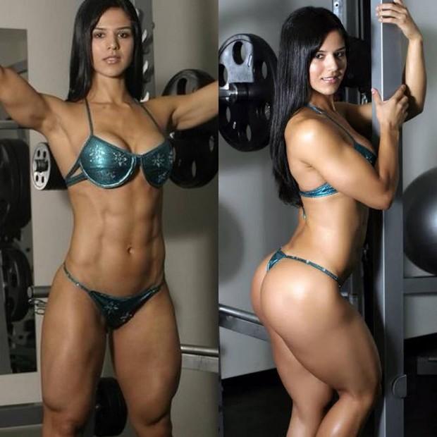 Musa fitness Eva Andressa mostra antes e deposi (Foto: Reprodução/Instagram)