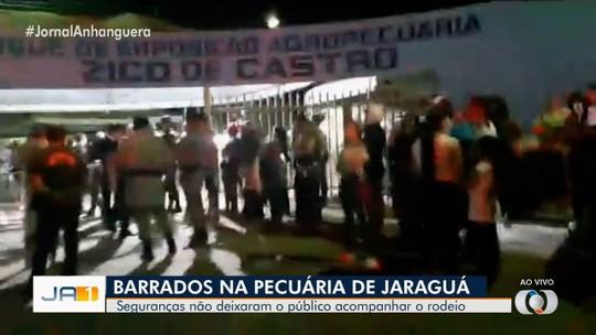 Seguranças reivindicam salários bloqueando entrada na Festa do Peão de Jaraguá; vídeo