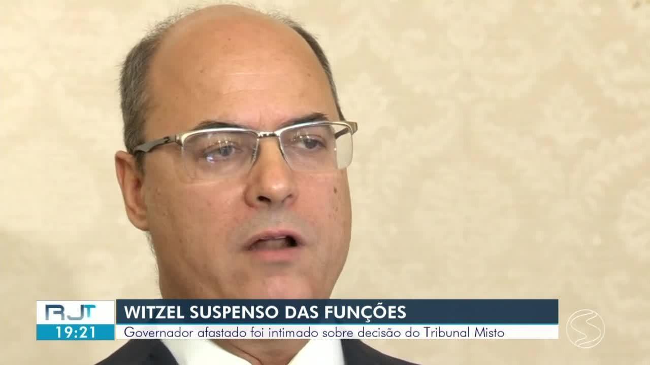 Witzel é intimado sobre decisão do Tribunal Misto e está suspenso da função de governador