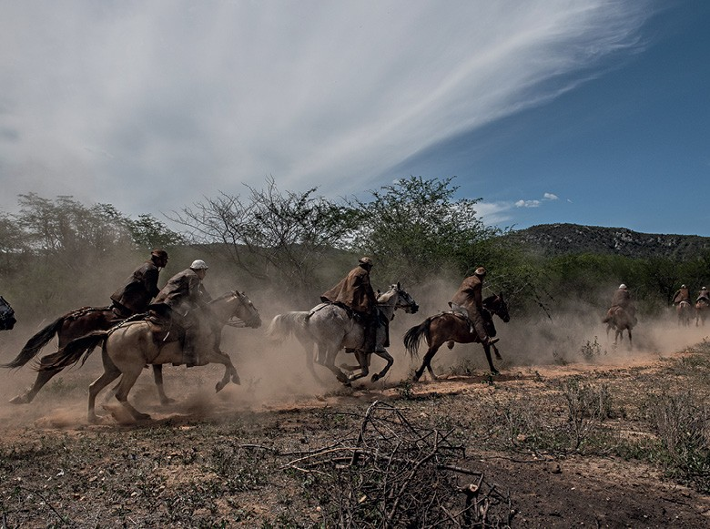 Vaqueiros do Pajeú - a tradicional pega de boi ocorre em meio à vegetação da Caatinga, em Floresta (Foto: José Medeiros)