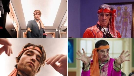 Meme nas redes sobre o ensaio de Robert Pattinson  (Foto: Reprodução)