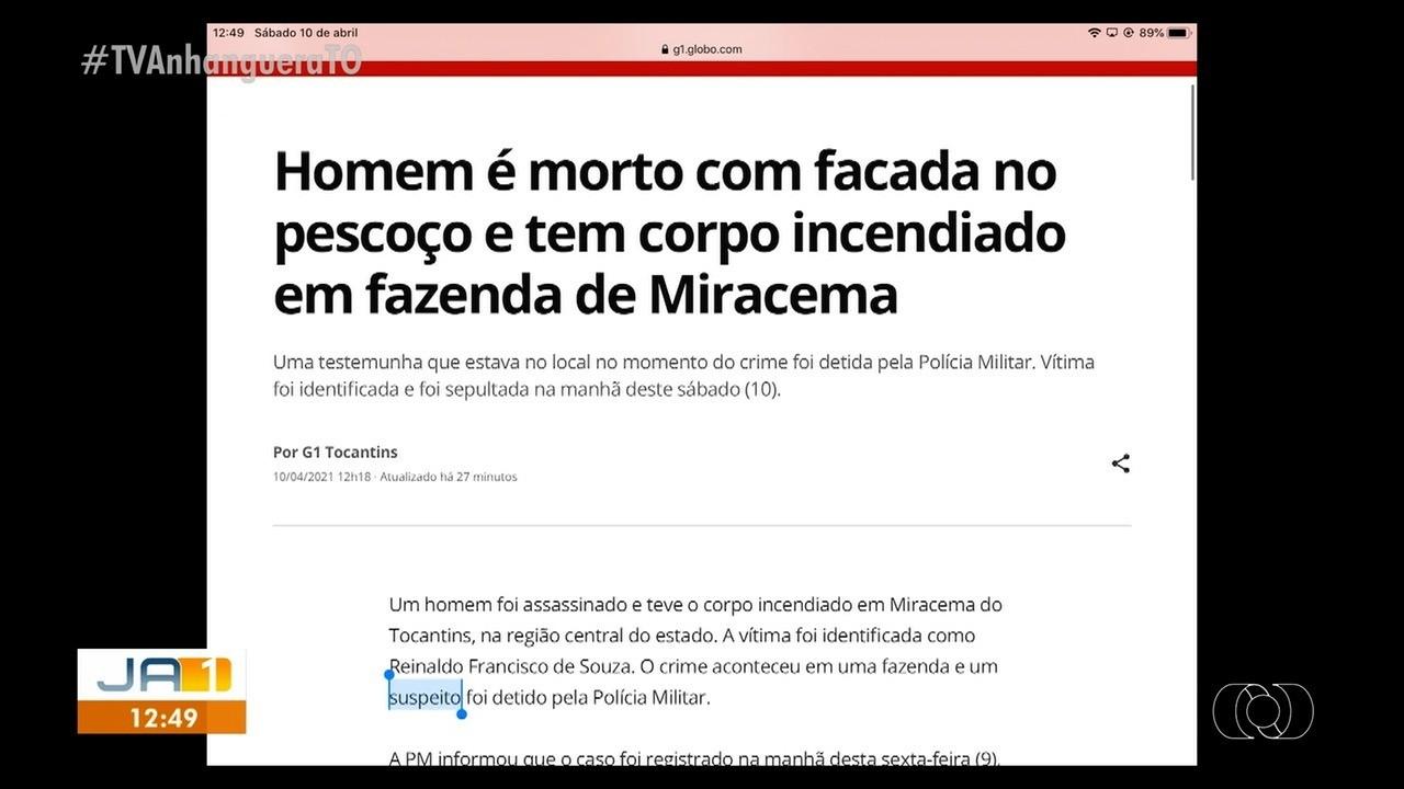 Crime bárbaro choca moradores em Miracema