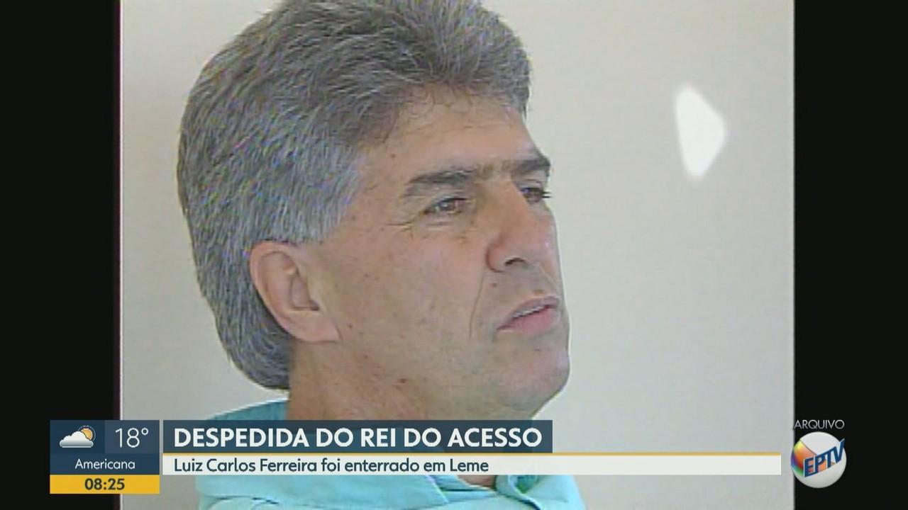 Amigos e familiares se despedem do técnico Luiz Carlos Ferreira, o 'Rei do Acesso'