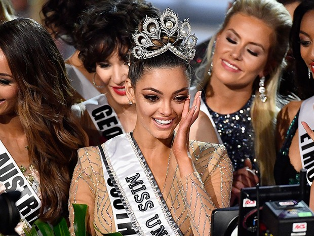 Demi-Leigh Nel-Peters, miss sul-africana, vencedora do Miss Universo 2017 (Foto: Getty Images)