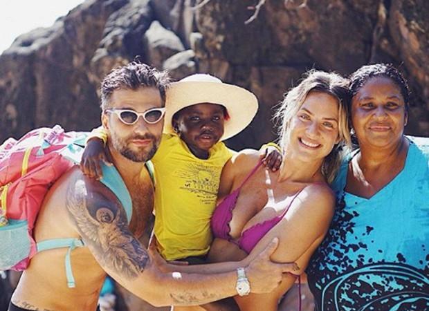 Bruno Gagliasso, Títi, Giovanna Ewbank e Jane Cristina (Foto: Reprodução/Instagram)