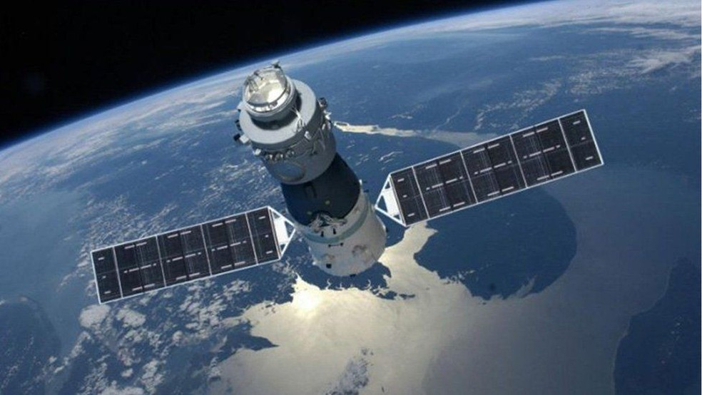 A estação Tiangong-1 voltará à Terra em 2018, mas ainda não se sabe exatamente onde irá cair | Foto: Engenharia espacial chinesa (Foto: Engenharia Espacial Chinesa)