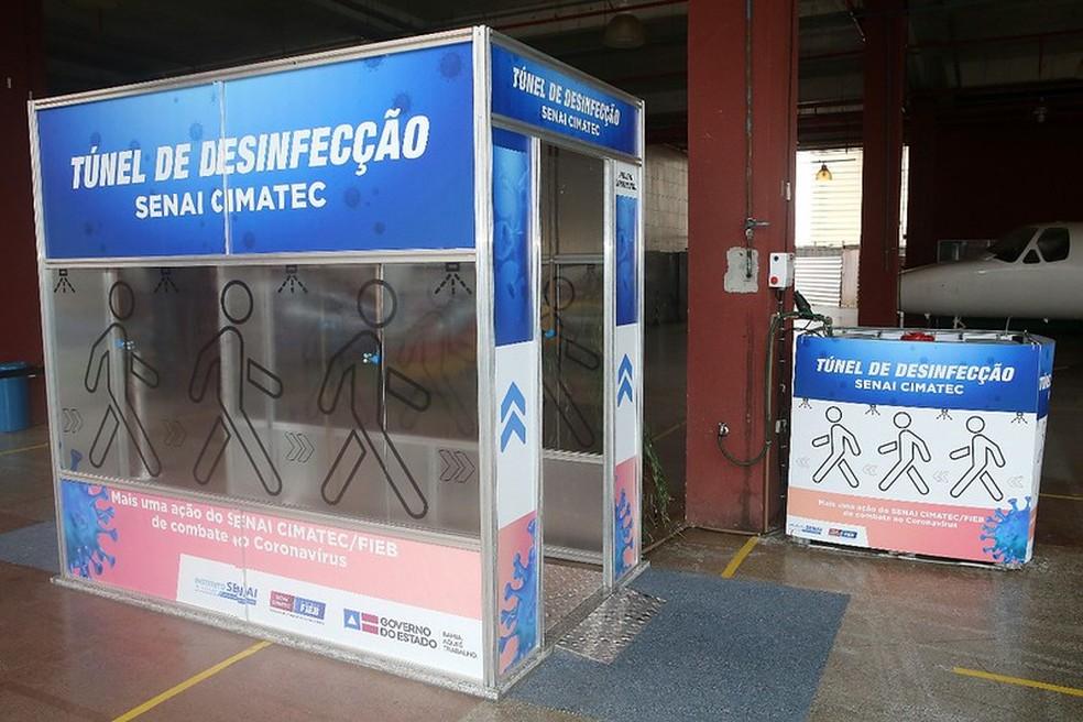 Túnel de desinfecção é instalado no Instituto Couto Maia ...