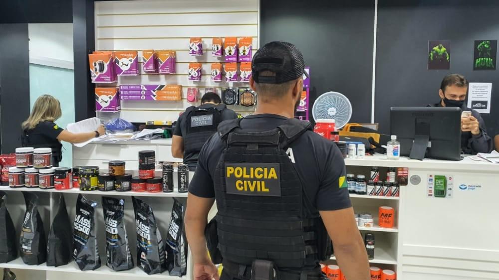 Carro e aparelhos eletrônicos são apreendidos em operação de combate à venda ilegal de anabolizantes
