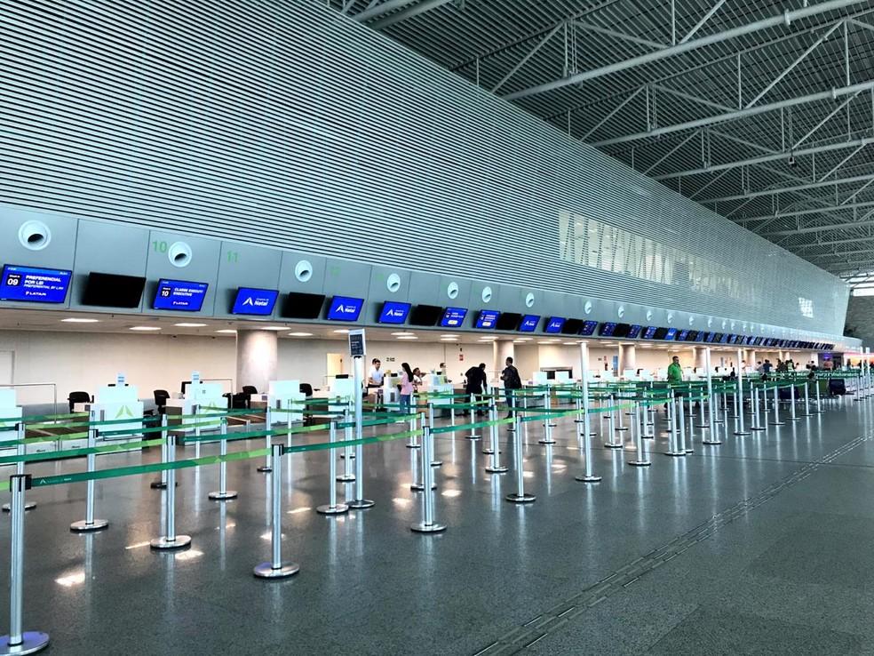 Aeroporto de Natal reduziu número de voos durante a pandemia do novo coronavírus. — Foto: Inframérica/Divulgação