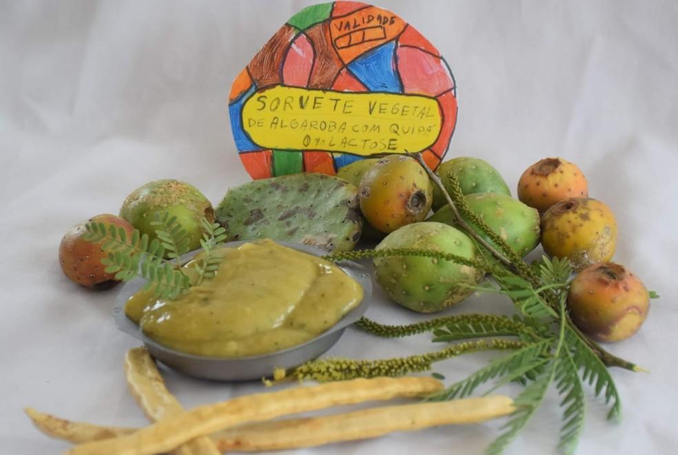 Sorvete de quipá e algaroba criado por Adriano Xavier — Foto: Valdeci Primo