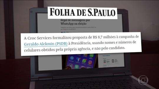 Empresa ofereceu impulsionamento ilegal de mensagens a Alckmin, revela Folha de S.Paulo