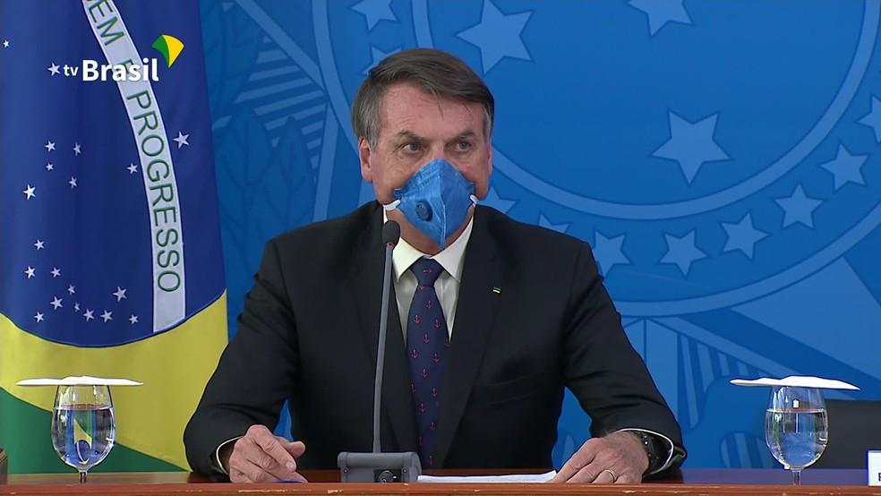 O presidente da República, Jair Bolsonaro, tem avaliação como péssima e ruim de 48% dos cidadãos de SP — Foto: Reprodução/GloboNews