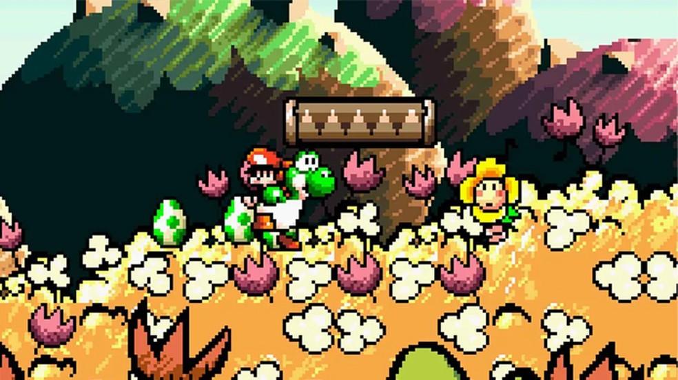 Super Mario World 2: Yoshi's Island deu início a uma longa franquia de games de plataforma do dinossauro da Nintendo — Foto: Reprodução/Polygon