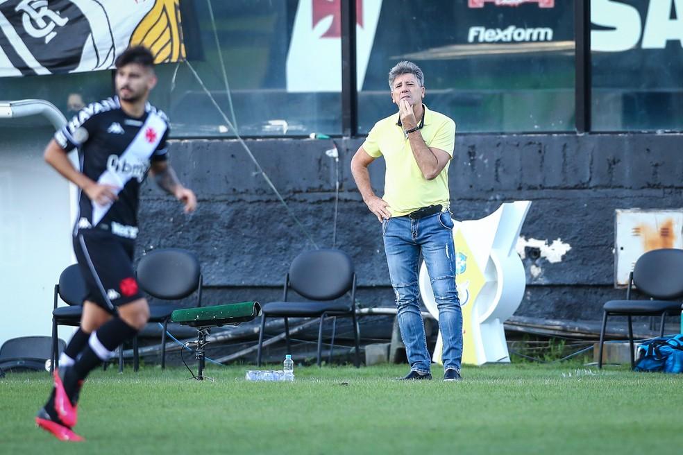 Renato garante busca pelo título de acordo com campanhas anteriores — Foto: Lucas Uebel / Grêmio FBPA