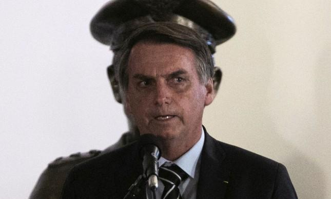 Bolsonaro na posse do novo ministro da Defesa