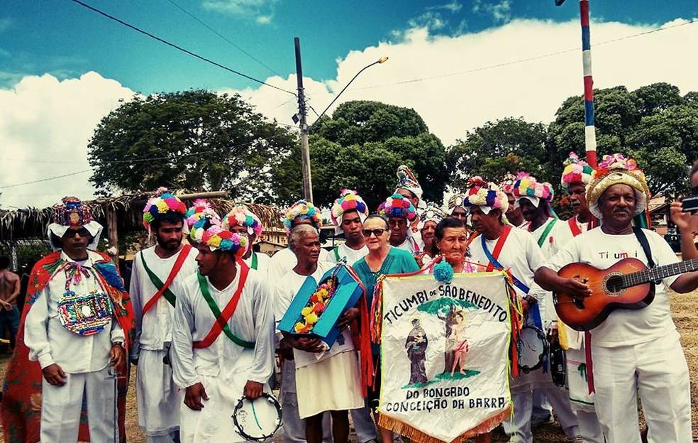 Festa de São Benedito e São Sebastião em Itaúnas, no Espírito Santo (Foto: Danilo Ferraz/ Divulgação Secult-ES)