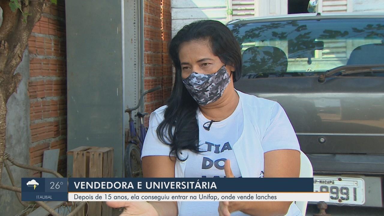 Autônoma é aprovada na universidade em que vendia lanches em Macapá