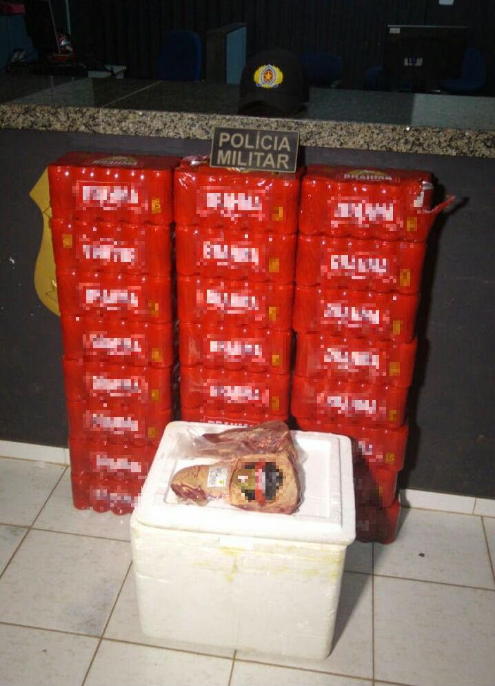 Homem é preso suspeito de furtar 24 caixas de cerveja e picanhas em supermercado; ele tentou fugir de táxi