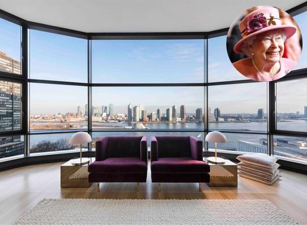 O apartamento vizinho da Rainha Elizabeth II, em Nova York, está disponível para aluguel por mais de 110 mil reais (Foto: Nesk Seekers/ Reprodução)