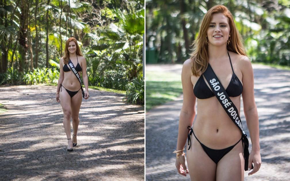 A miss São José dos Campos, Rita Maria Coelho, de 22 anos, é modelo — Foto: Fábio Tito/G1