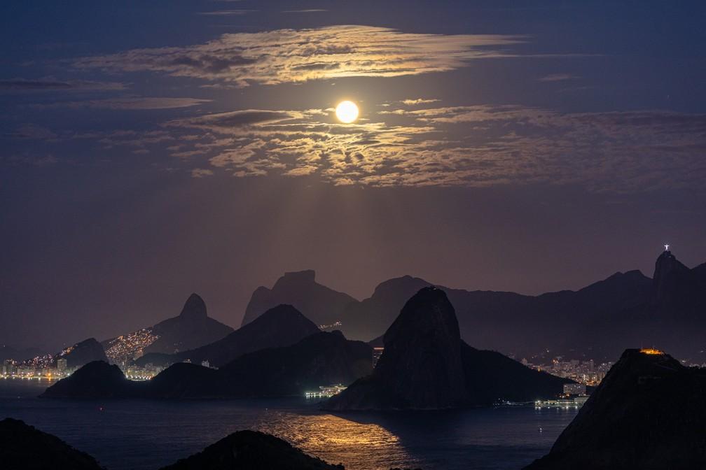 Superlua no Rio — Foto: Marcello Cavalcanti/Arquivo pessoal