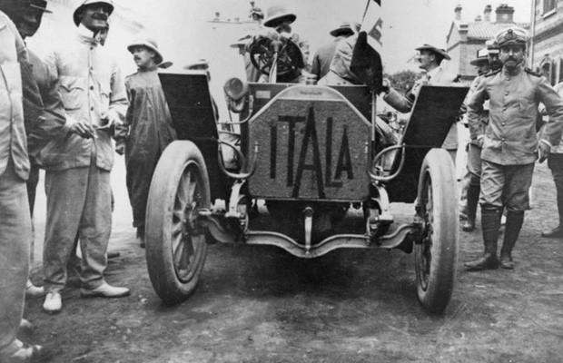 Itala foi o carro vencedor do rali, com duas semanas de antecedência sobre os demais concorrentes (Foto: Reprodução)