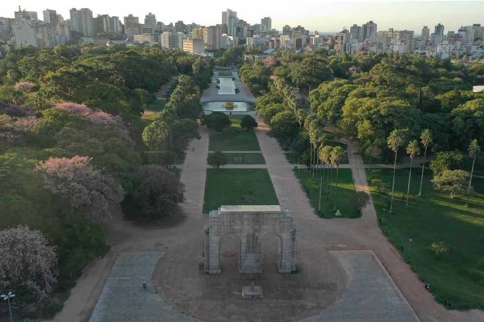 Parque da Redenção, na região central de Porto Alegre — Foto: Jefferson Bernardes/PMPA/Divulgação