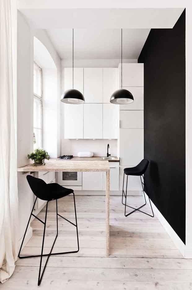 Décor do dia: cozinha para apartamentos pequenos