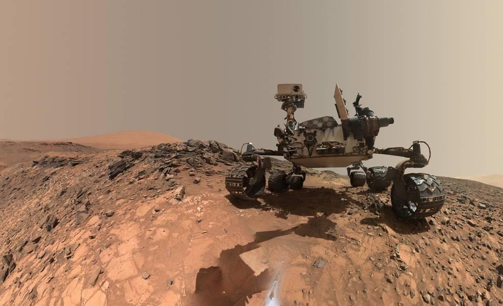 A sonda Curiosity foi responsável pela descoberta de moléculas orgânicas em Marte (Foto: NASA)