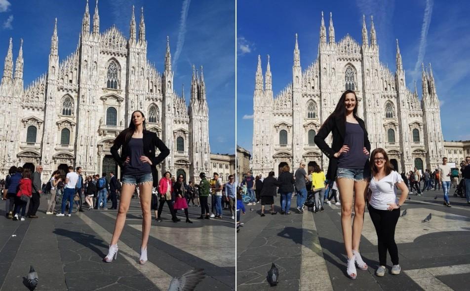 Ex-jogadora de basquete quer o título de modelo mais alta do mundo