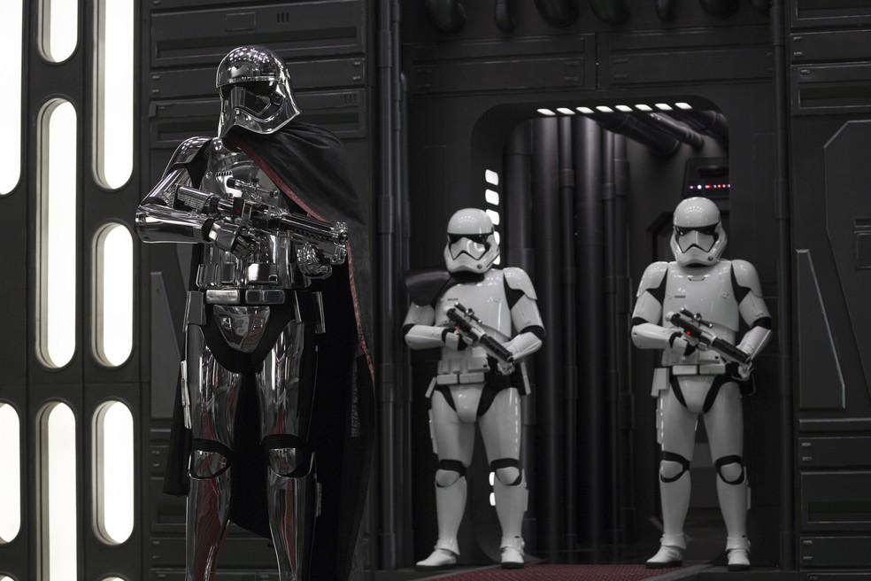 Stormtroopers em cena de 'Star Wars: Os últimos Jedi' (Foto: Divulgação/Disney)