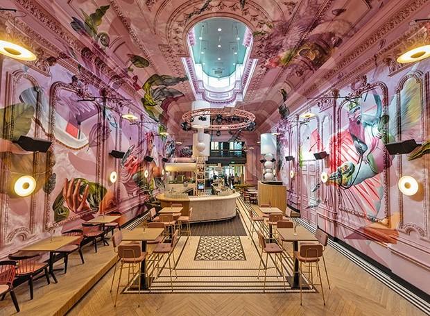 Visão de dentro do café (Foto: Helden Van de Buurt/ Reprodução)